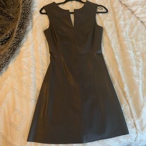 Zara faux leather brown dress